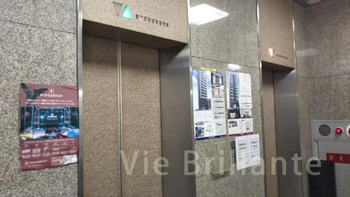 リンクスの入居しているビルのエレベーター