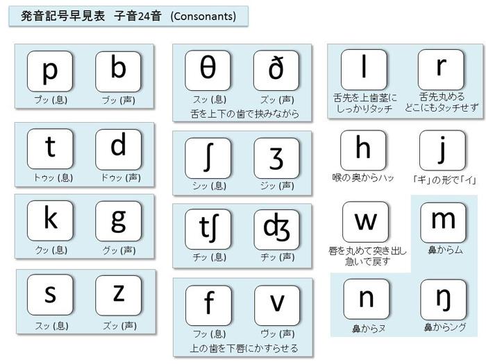 タニケイ式発音記号一覧表_子音
